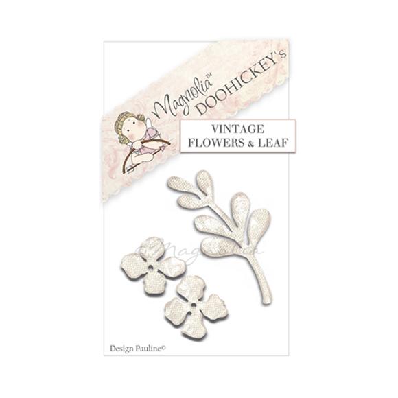 Vintage flowers and leaf