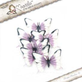 vintage pansies butterflies