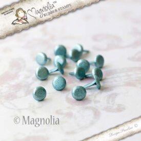 7 Brads (small metallic turquoise)