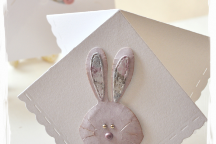 Rabbit handkerchief card