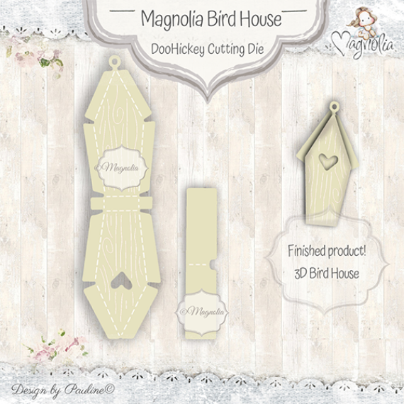 MD-19 Magnolia Bird House DooHickey Cutting Die