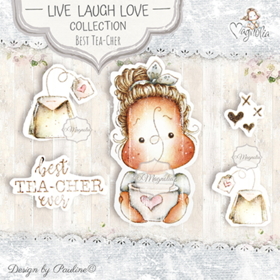 LLL-19 Best Tea-Cher Ever Art Stamp Sheet