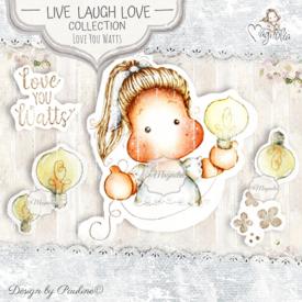 LLL-19 Love You Watts Art Stamp Sheet