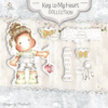 KH-20 Key To My Heart Art stamp Sheet