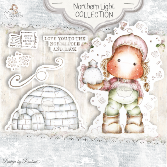 QH-20 Northern Light Art Stamp Sheet
