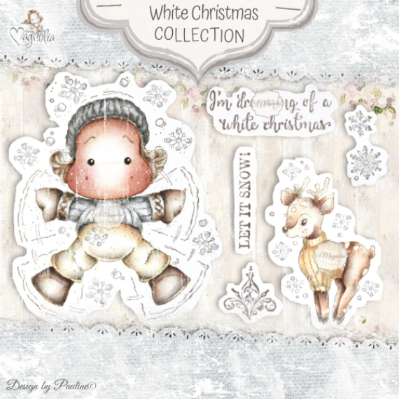 QH-20 White Christmas Art Stamp Sheet