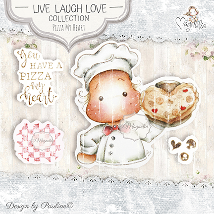 LLL-19 Pizza My Heart Art Stamp Sheet