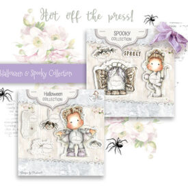 SH-19 Spooky Halloween Art Stamp Sheet