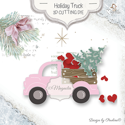 MCC-19 Holiday Truck Cutting Die {Christmas & Valentine}