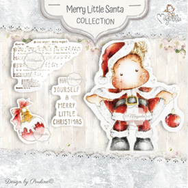 MCC-19 Merrry Little Santa Art stamp Sheet