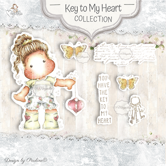 KH-20 Key To My Heart Art stamp Sheet
