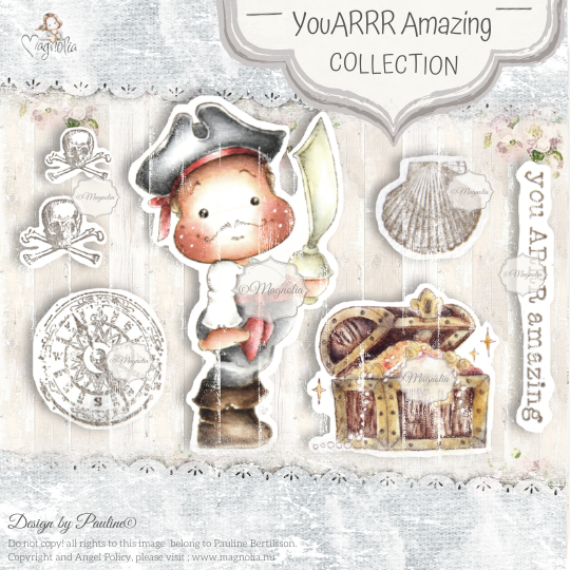 OUT-20 You Arrr Amazing Art Stamp Sheet