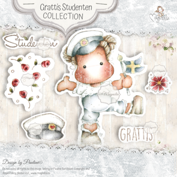 ST-20 Grattis Studenten Art Stamp Sheet