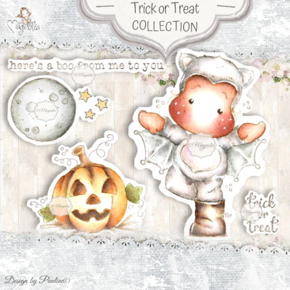 QH-20 Trick or Treat Art Stamp Sheet