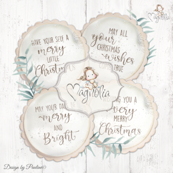MC-20 DooHickey Christmas Sentiments M 4pc