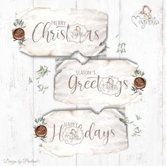 MC-20 DooHickey Christmas Sentiments Big - 3pc
