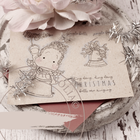 P2QH-21 Christmas Bells ~Rubber Stamp Sheet