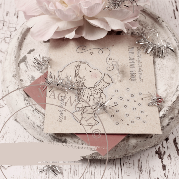 P2QH-21 Silent Night ~Rubber Stamp Sheet